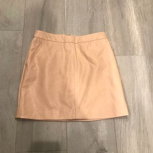 Forever21 Leather Nude Skirt